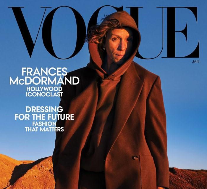 ფრენსის მაკდორმანდი Vogue-ის გარეკანზე უმაკიაჟოდ გამოჩნდა