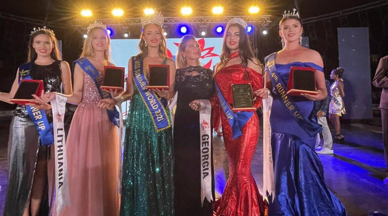 """კონკურსზე ,,Miss Summer World -2021 – Hungary"""" საქართველომ გაიმარჯვა"""